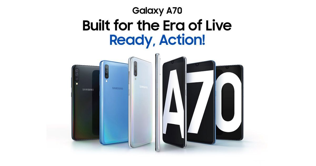 Samsung Galaxy A70 Arrives in India Priced At Rs 28,990; Specifications and Features