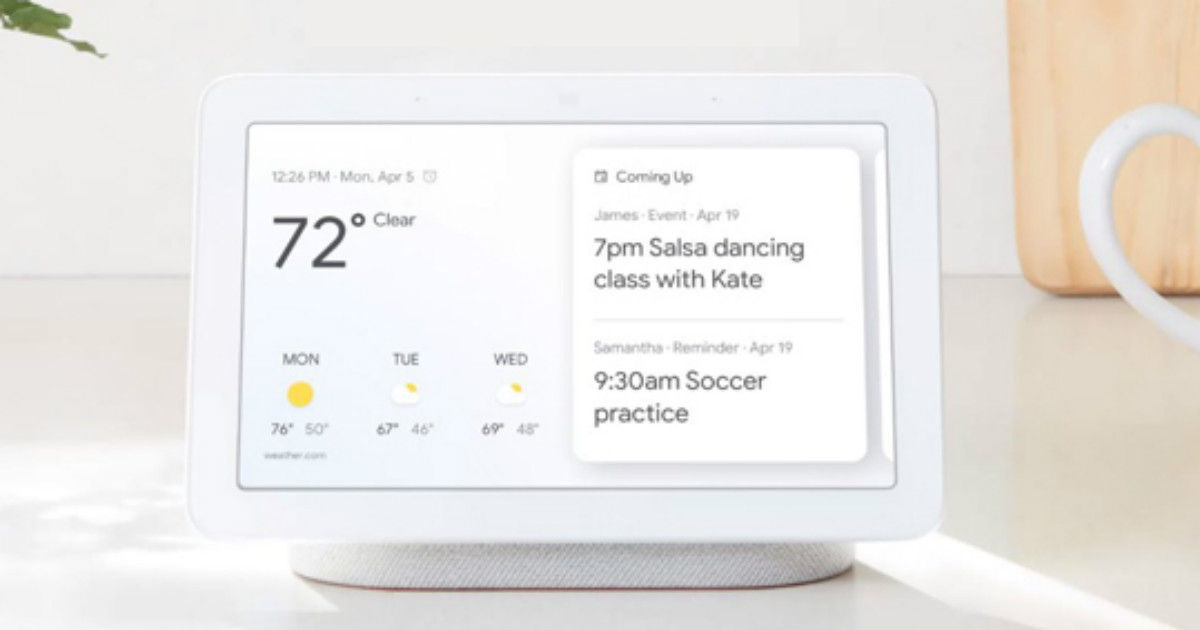 Google Nest Hub with 7-inch touchscreen launched in India for Rs 9,999