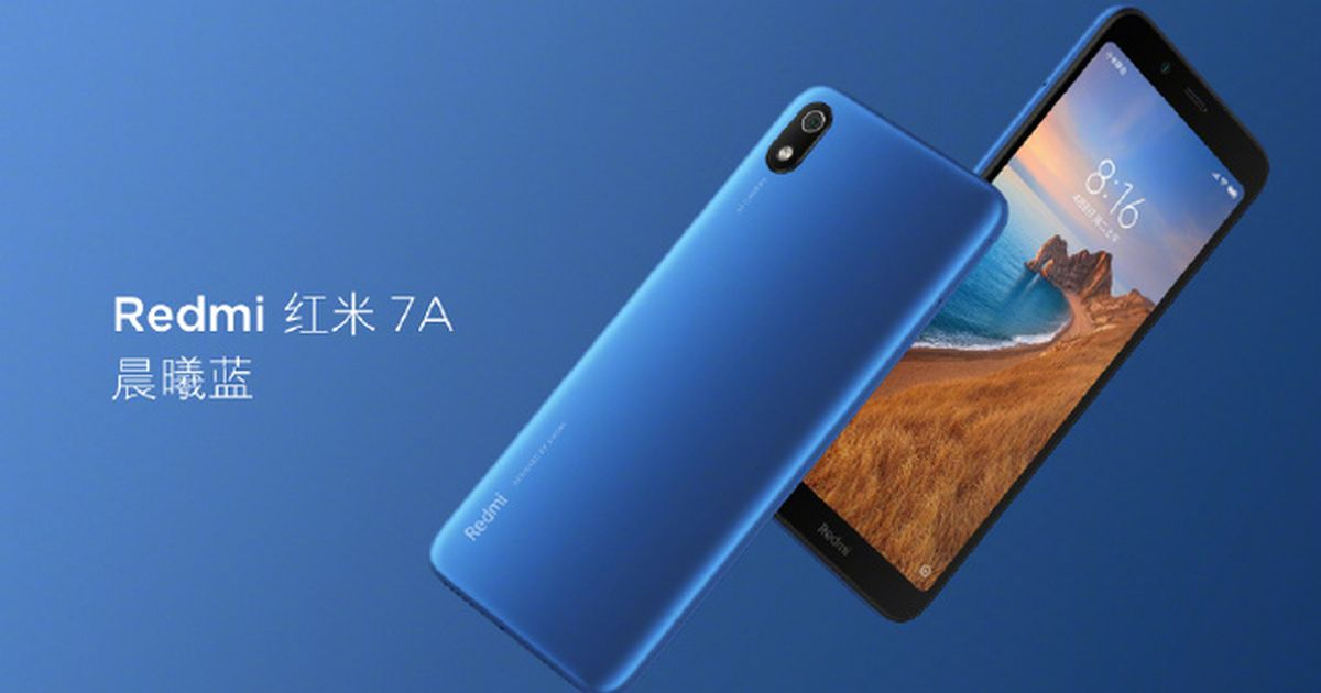 Xiaomi Redmi 7A with Snapdragon 439 and 13MP Camera Unveiled in China