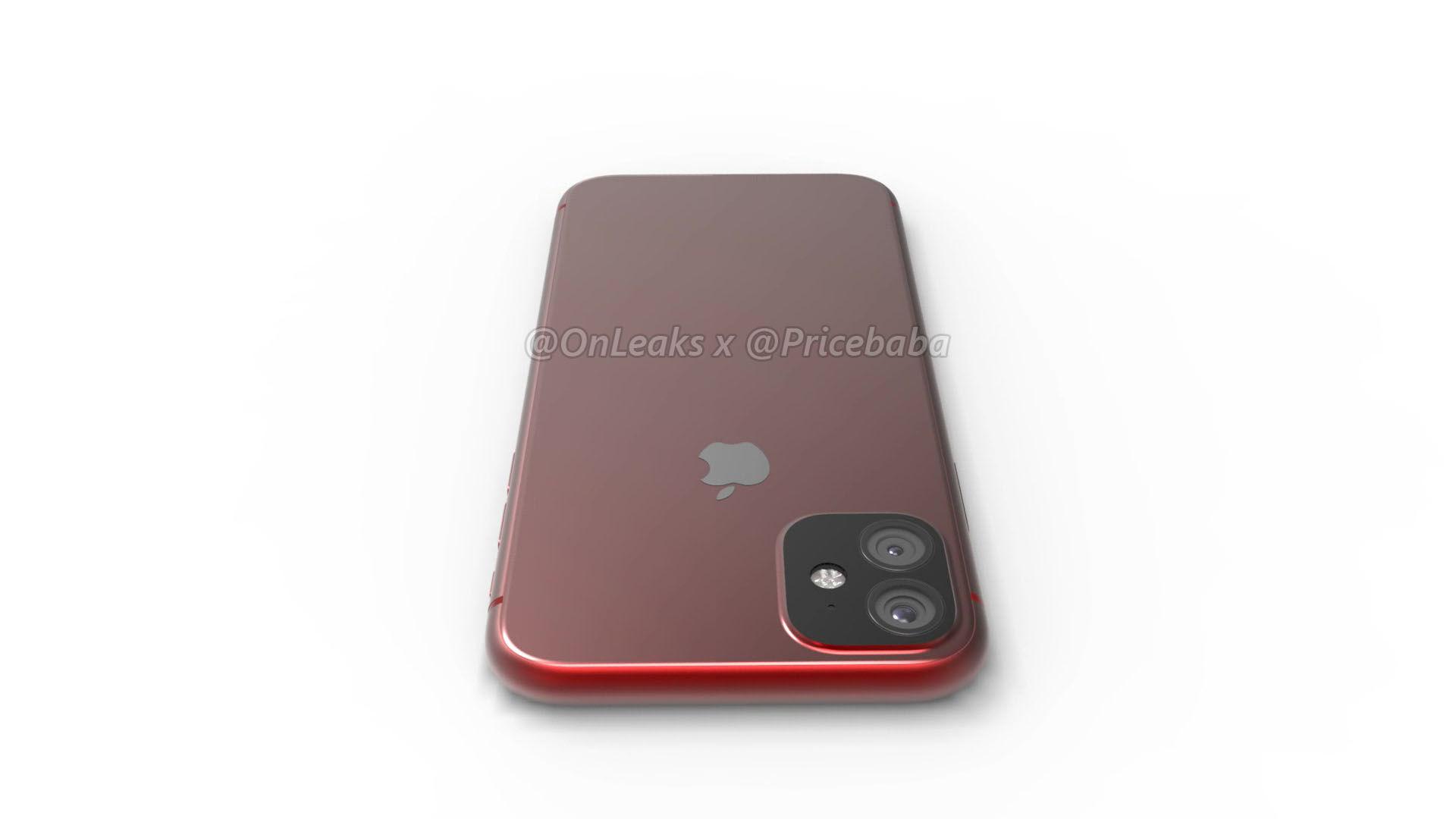 Apple iPhone XR (2019) с двойной задней камерой, утечка в HD-рендерах