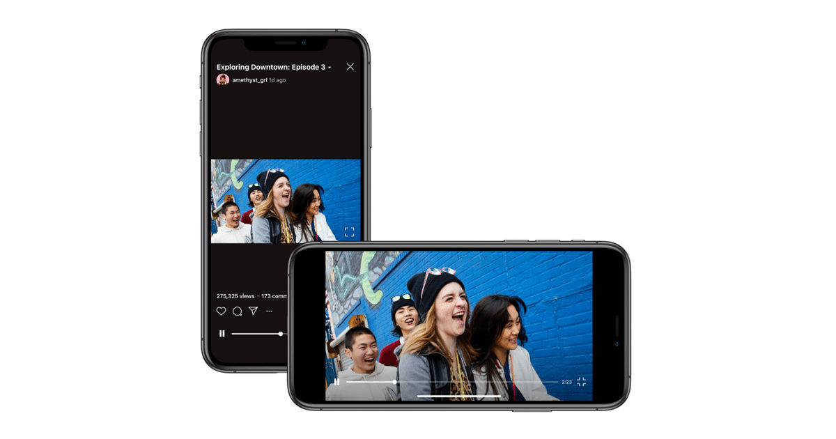 Instagram's IGTV now supports horizontal videos