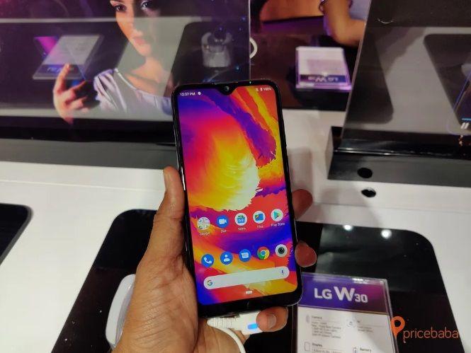 LG W30 smartphone