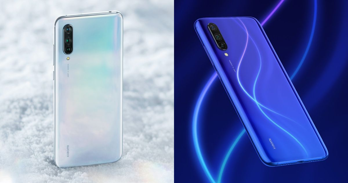Xiaomi Mi CC9 White and Dark Blue Official Renders Released
