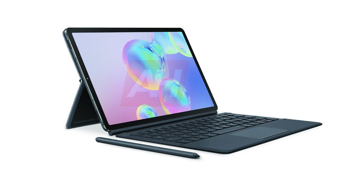Samsung Galaxy Tab S6 Official Renders Reveal Magnetic S-Pen And Surface-Style Kickstand