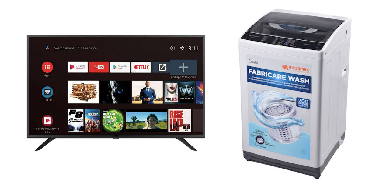 Micromax launches Android TVs and fully-automatic top-load