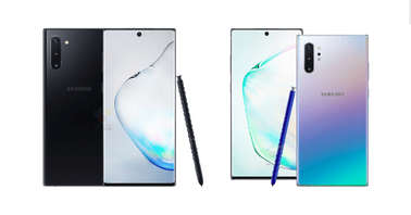 Samsung Galaxy Note 10 and Note 10+ renders