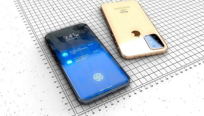iPhone wiht in-display fingerprint scanner-