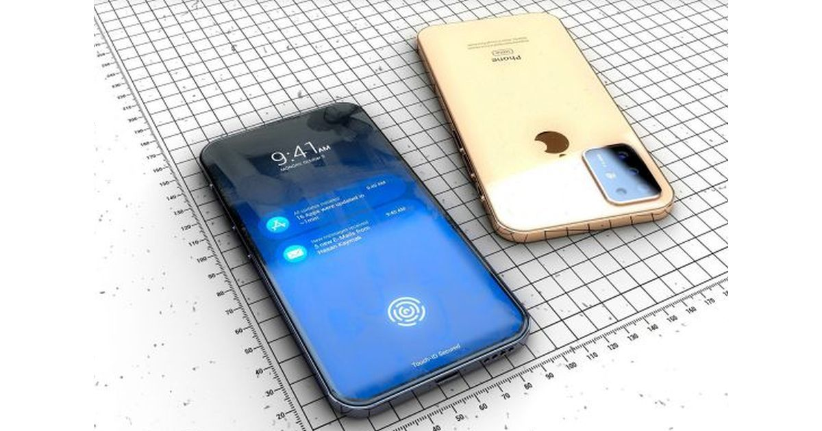 iPhone with in-display fingerprint scanner