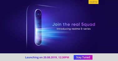 Realme 5 series August 20 launch