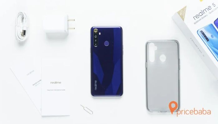 Realme 5 with charger