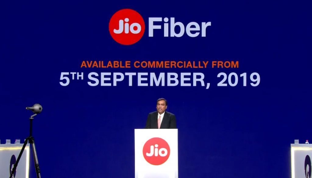Reliance AGM 2019: Jio Fiber plans, commercial launch date