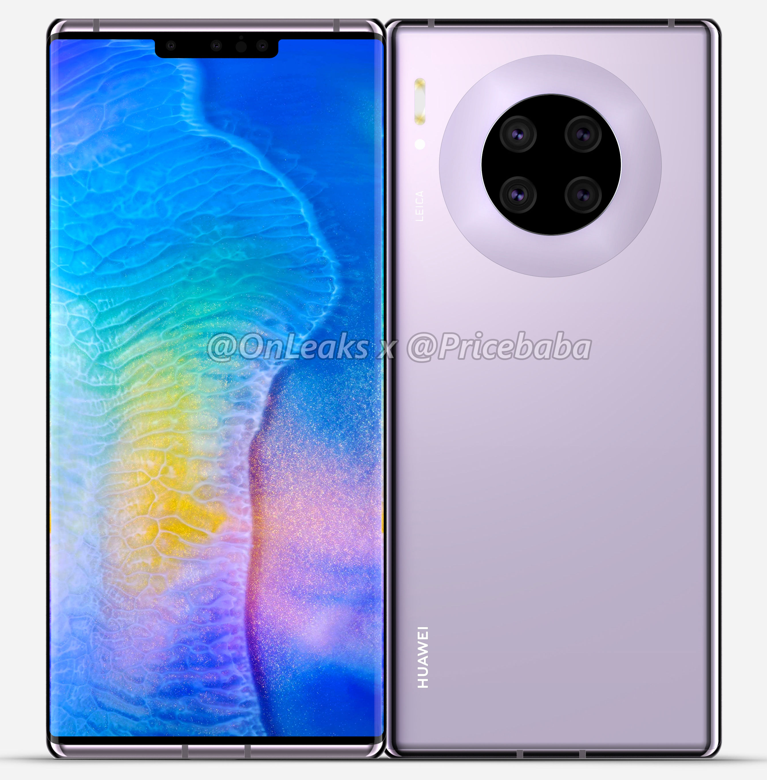 Exclusive: Huawei Mate 30 Pro renders reveal circular quad