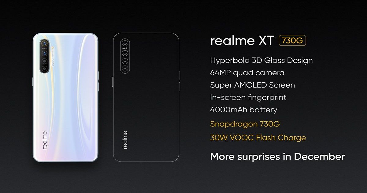 Realme XT 730G with 4GB RAM tipped to launch in India before December 20th alongside Realme AirPods