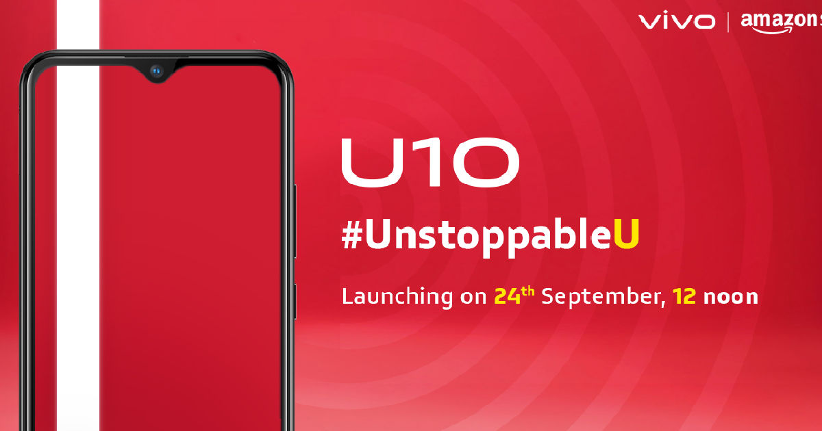 Vivo U10 to launch in India on September 24th