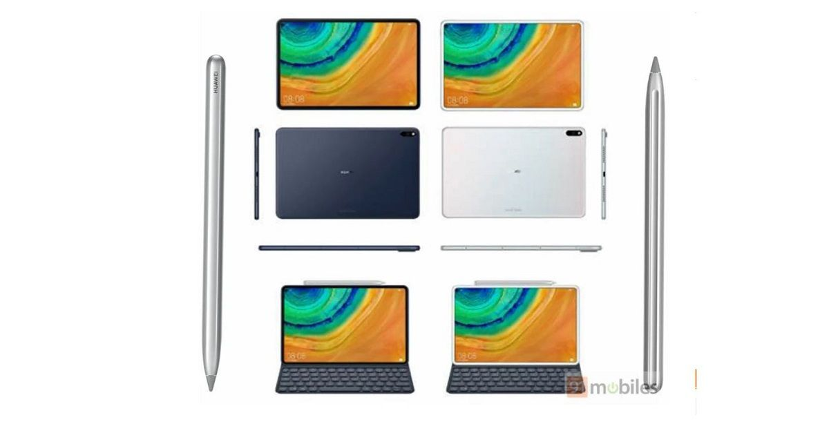Huawei MediaPad M7 renders reveal a punch-hole display and M-Pen stylus