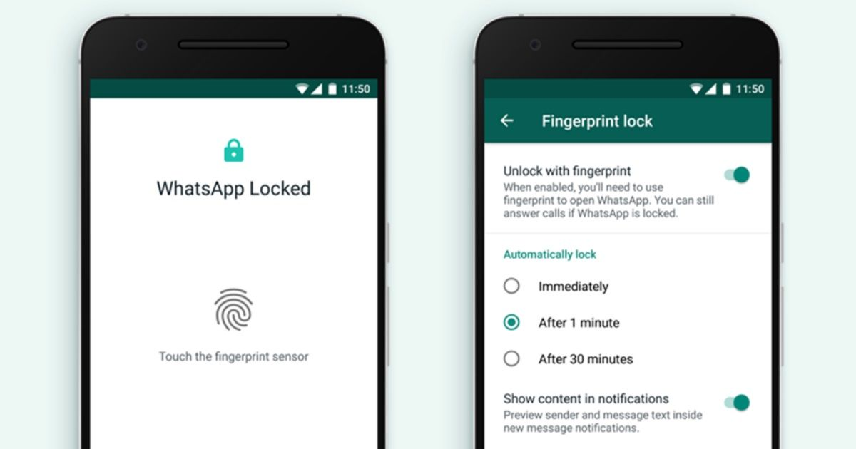 WhatsApp fingerprint lock_featured