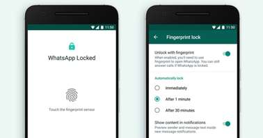 WhatsApp fingerprint lock_featured