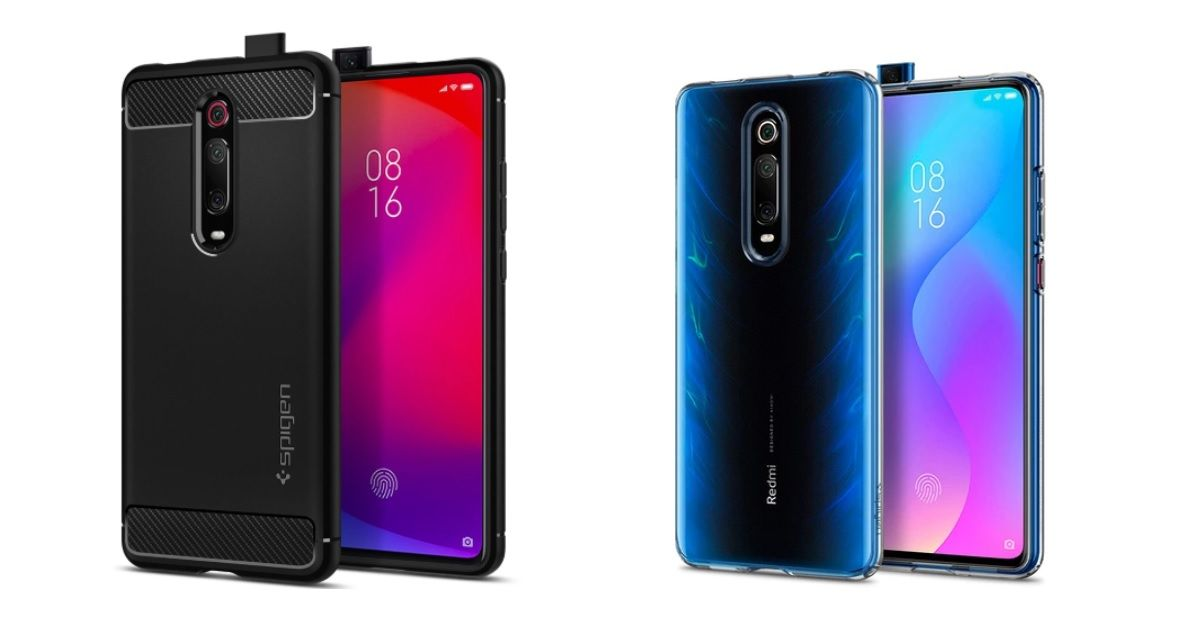 POCO F2 and F2 Pro cases appear on Spigen's website; suggest a design similar to Redmi K20 series