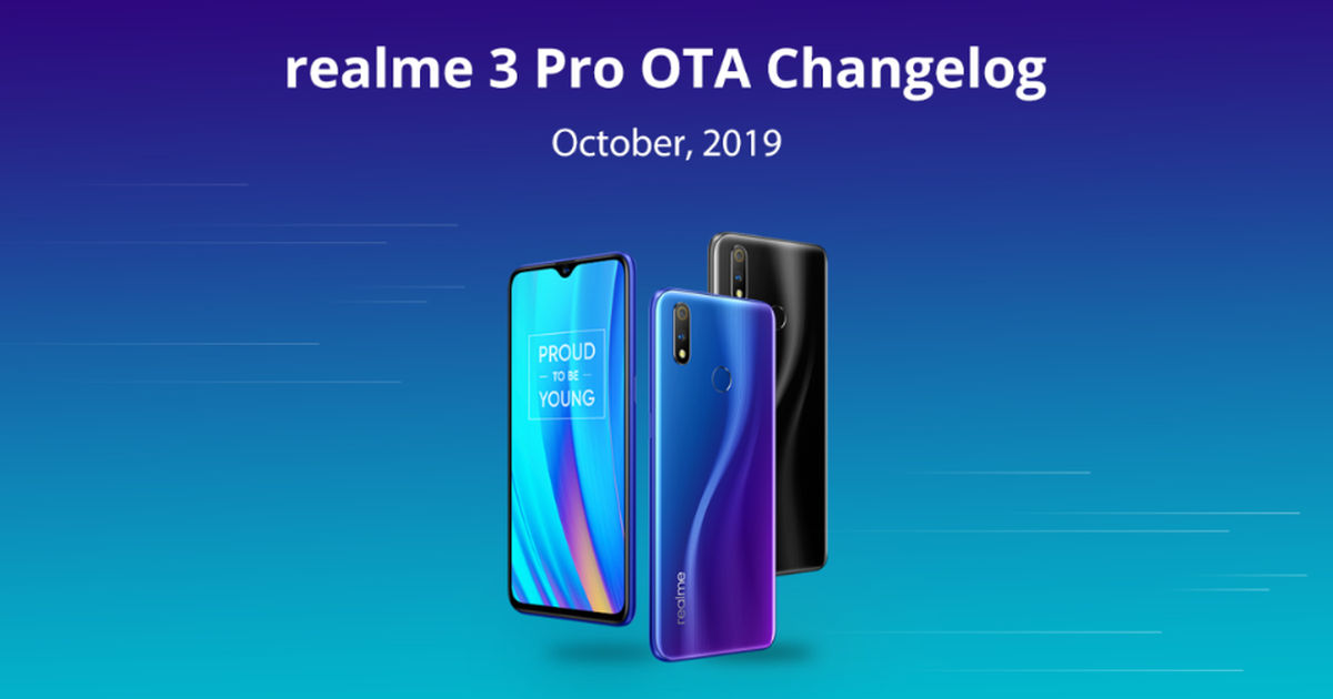 Realme 3 Pro software update