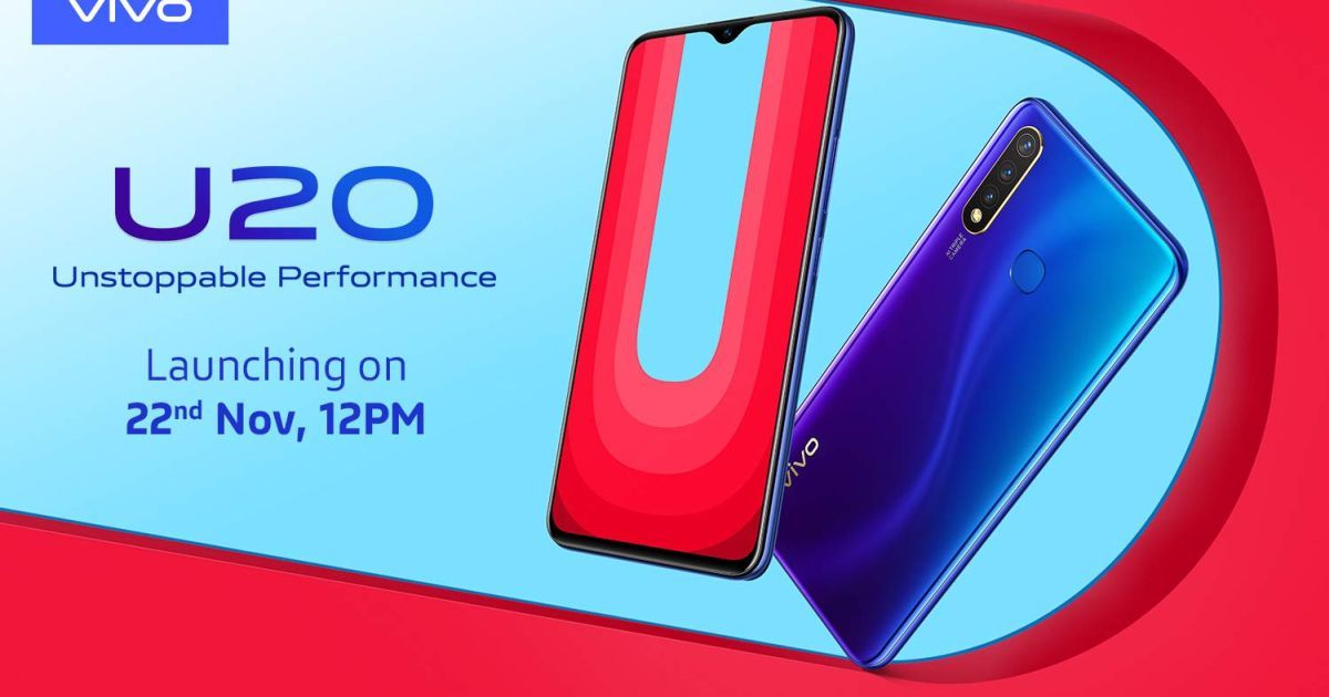 Vivo U20 with Snapdragon 675 and triple cameras to launch in India on November 22nd