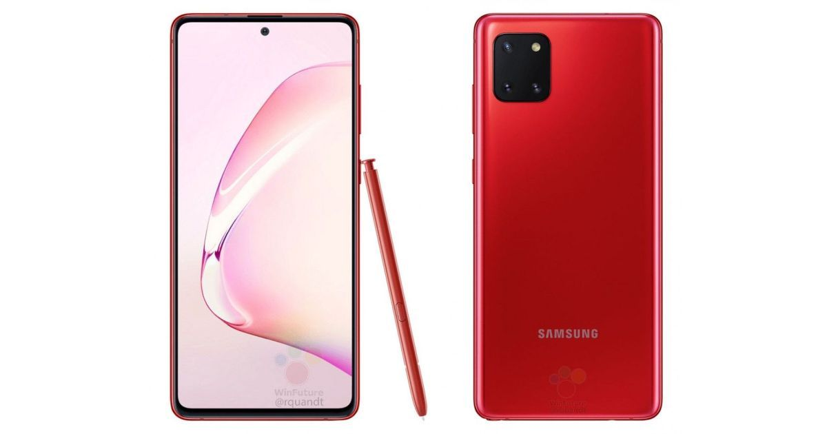 Galaxy Note 10 Lite Red