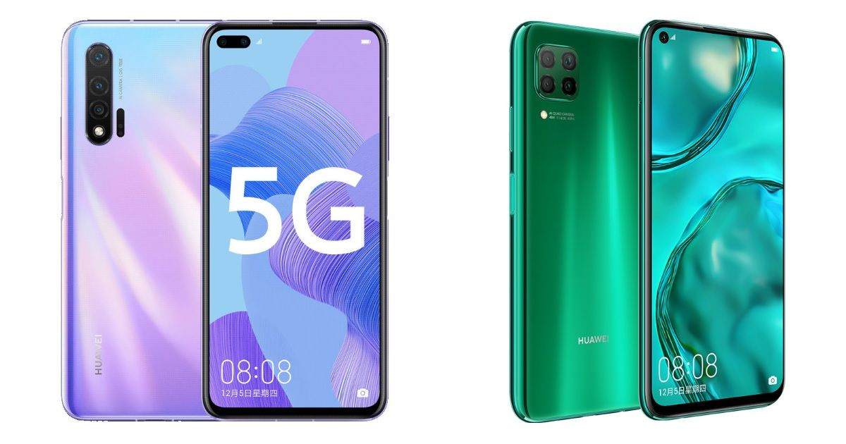 Huawei nova 6 series phones go official with punch-hole displays and four rear cameras