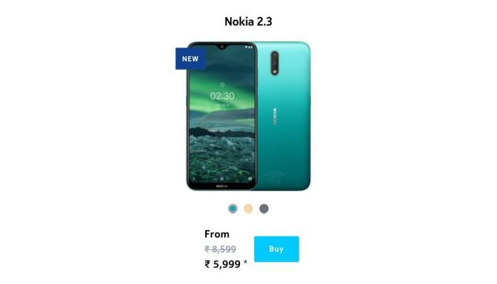 Nokia 2.3 leaked pricing