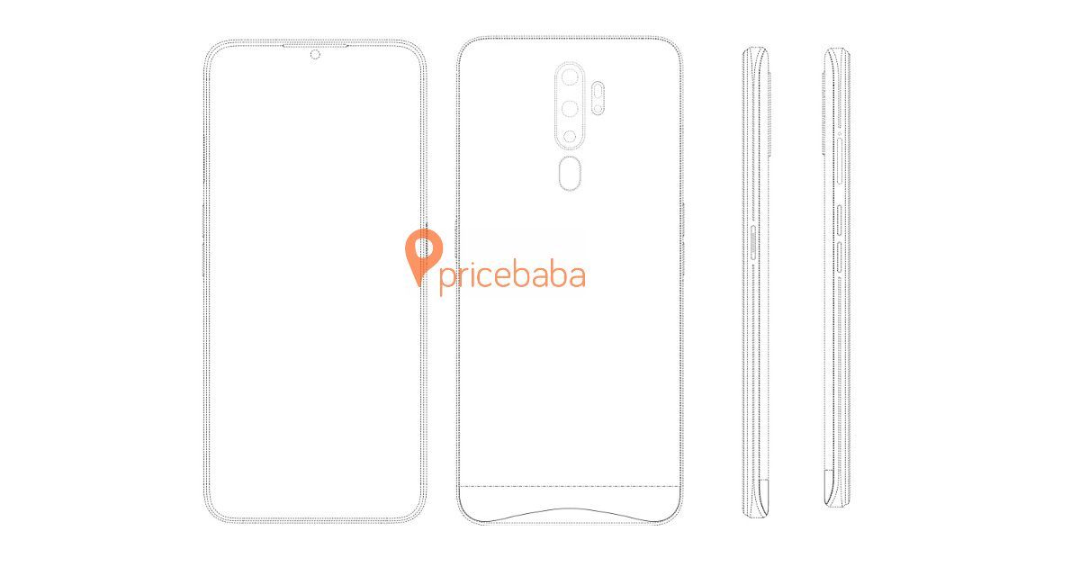 OPPO's upcoming affordable phone with punch-hole display and four rear cameras spotted in patent filings