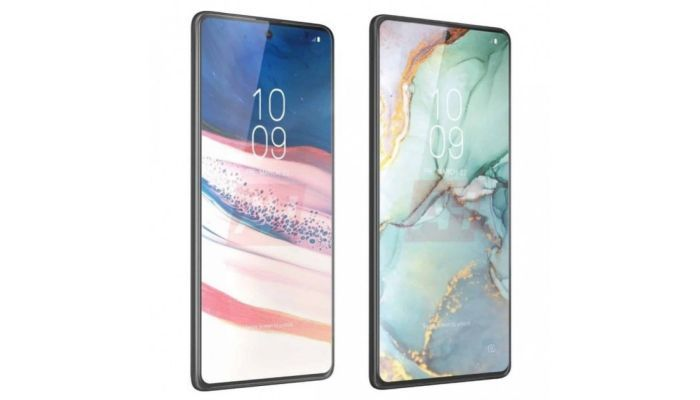 Samsung Galaxy Note 10 Lite (left) and Galaxy S10 Lite (right)