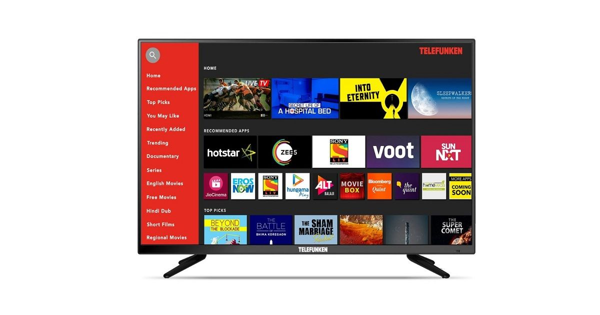 Telefunken 40-inch smart TV launched in India for Rs 16,999