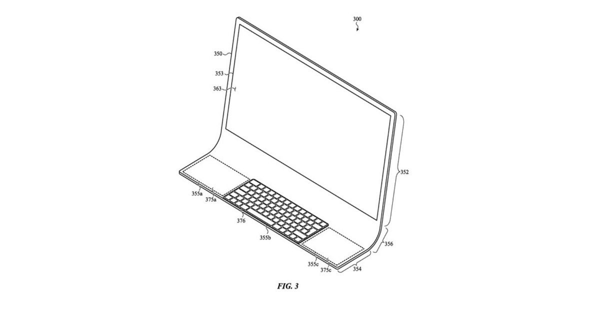 Apple patent hints at all-in-one iMac with integrated display, keyboard, and touchpad