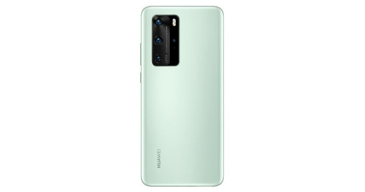 Huawei P40 Pro Mint Green colour variant's render leaked