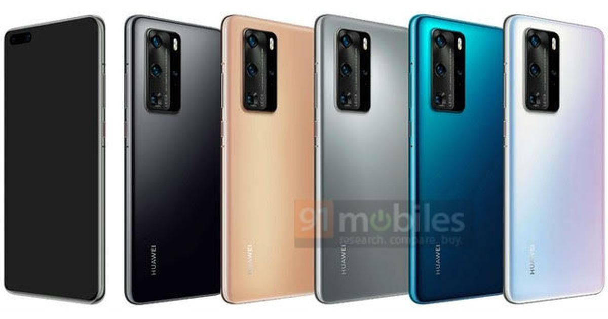 Huawei P40 Pro render reveals design and colour variants