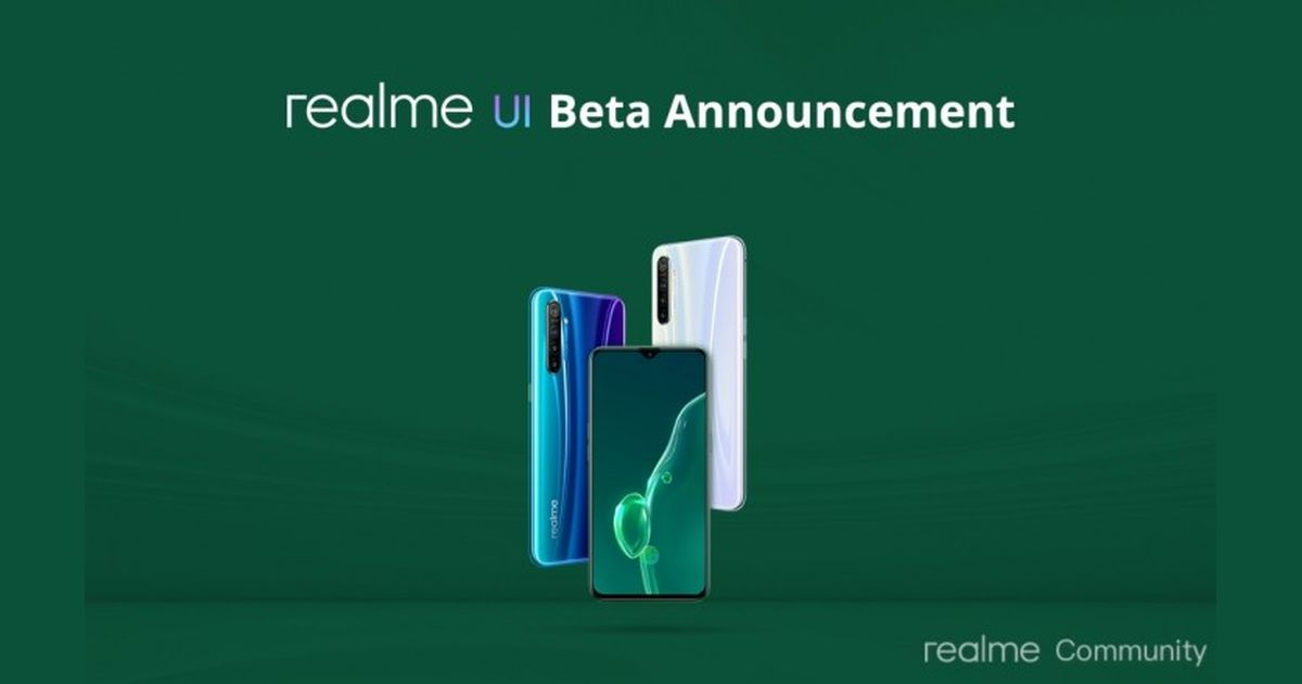 Realme UI beta announcement for Realme X2