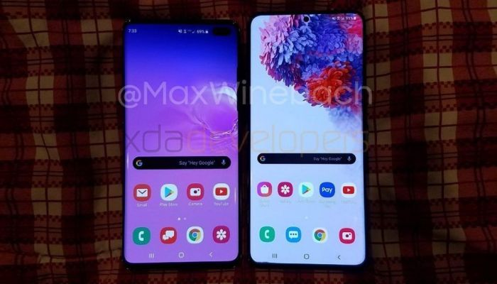 Samsung Galaxy S10+ and Galaxy S20+ comparison-