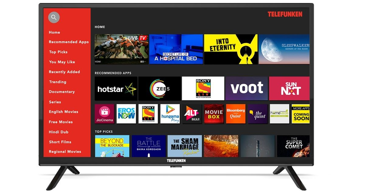 Telefunken 32-inch HD Ready Smart TV launched for Rs 9,990