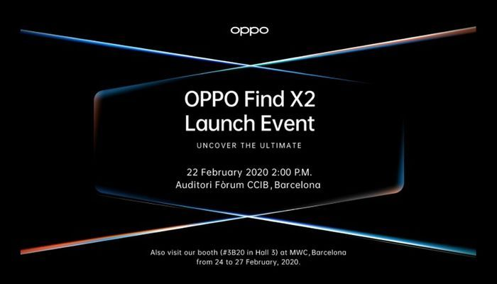 Find X2 launch event on February 22-