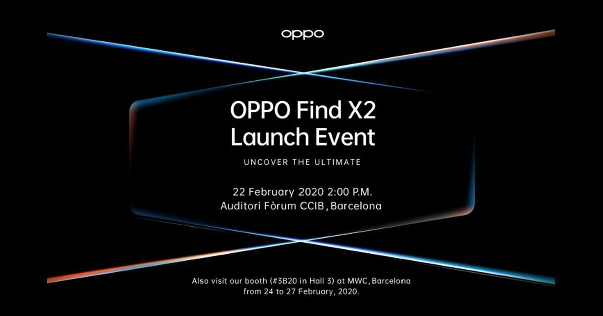 Find X2 launch event on February 22
