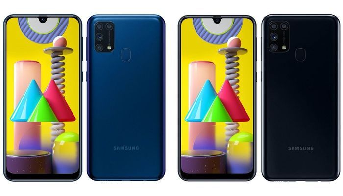 Galaxy M31 Ocean Blue and Space Black