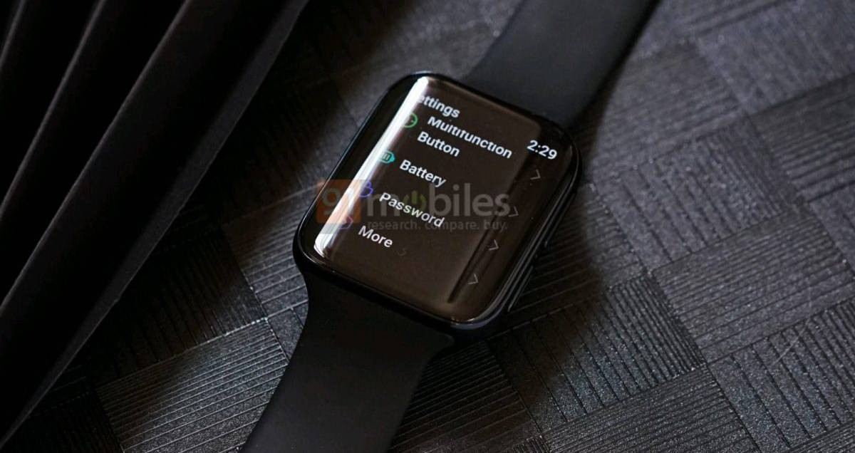 OPPO smartwatch surfaces in live image, looks similar to the Apple Watch