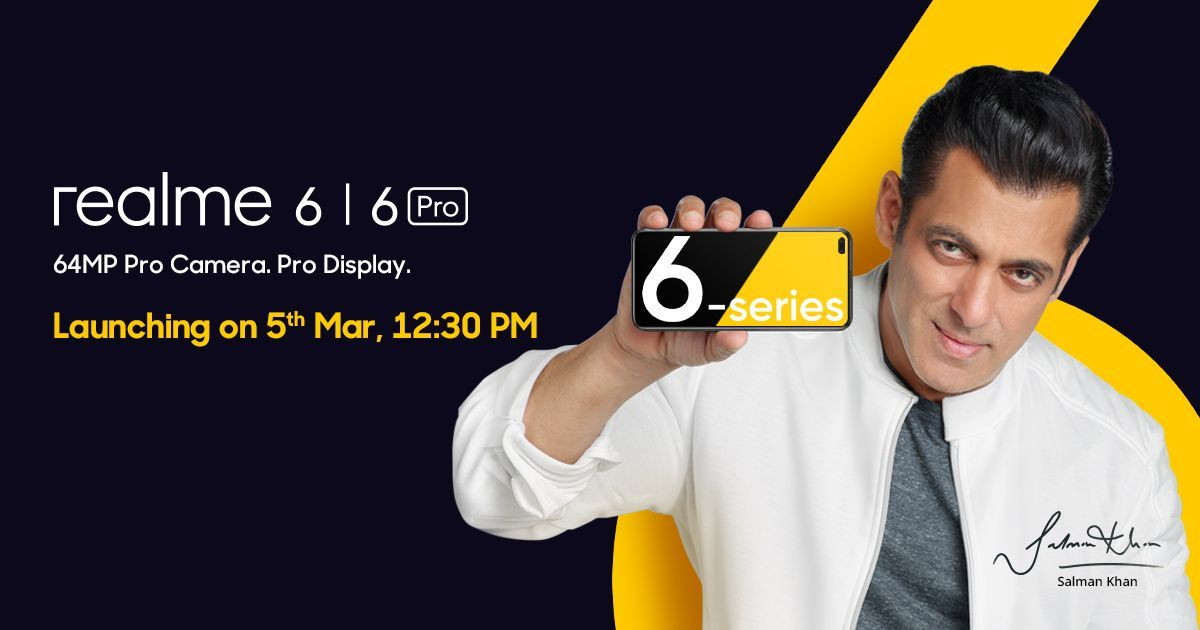 Realme 6 and 6 Pro to launch in India on March 5th, key features revealed