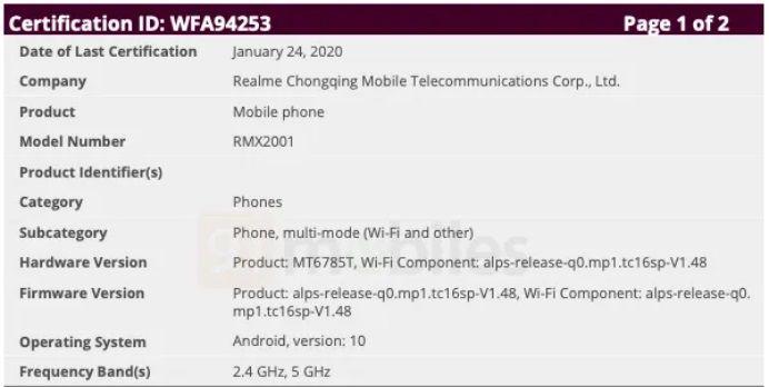 Realme 6 leaks through listing