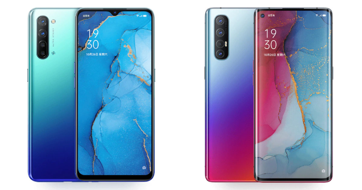China's OPPO Reno3 (left) and Reno3 Pro (right)