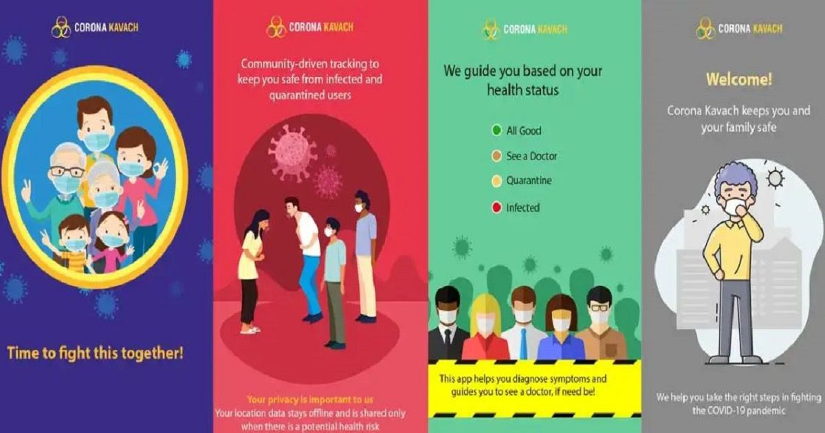 Indian government launches Corona Kavach, a location-based Covid-19 tracking app