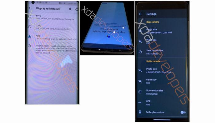 Motorola Edge XDA leak