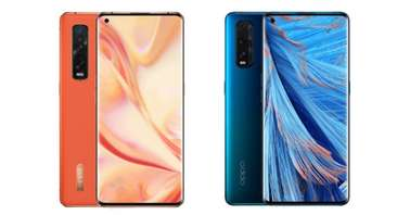 OPPO Find X2 Pro (left) and Find X2 (right)