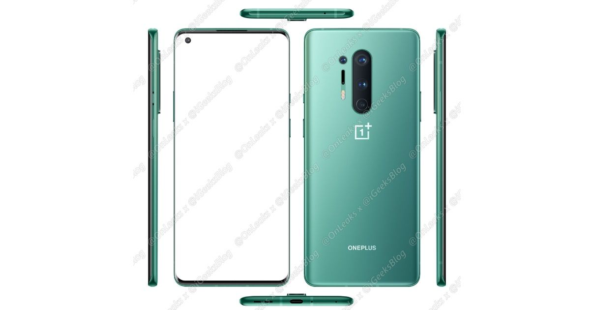 OnePlus 8 Pro official render leaked, reveals new green colour variant
