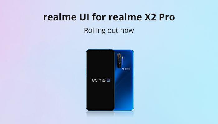 Realme X2 Pro Android 10 Realme UI update-