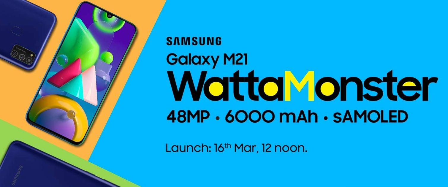 Samsung Galaxy M21 launch date poster