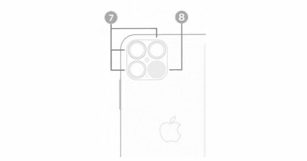 Apple iPhone 12 Pro triple cameras and LiDAR scanner